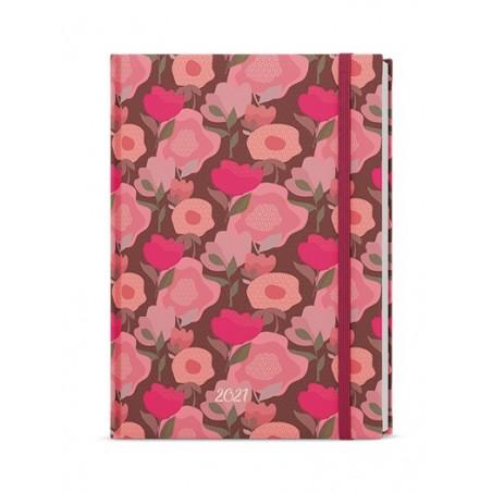 Denní diář - Adam - lamino s gumičkou - B6 - Růžová