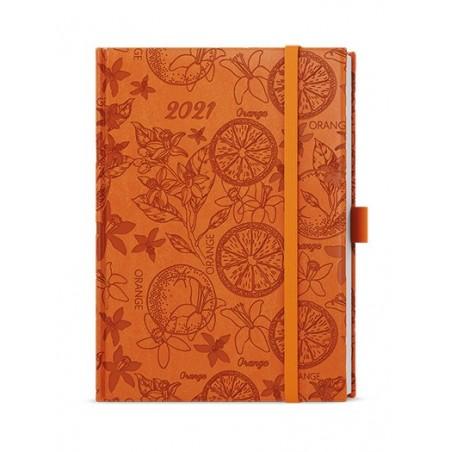 Denní diář - Adam - vivella extra - B6 - oranžová - Pomeranč