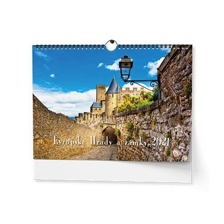Nástěnný kalendář - Evropské hrady a zámky - A3
