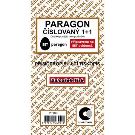 Paragon - číslovaný - EET