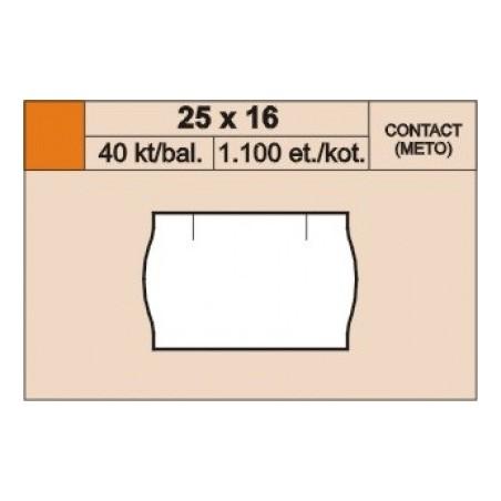 Cenové etikety 25 x 16 mm contact reflexní červená