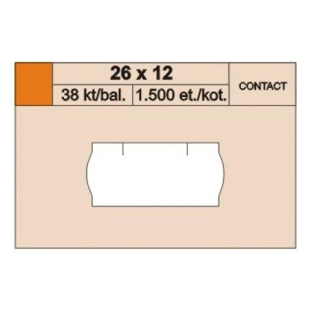 Cenové etikety 26 x 12 mm contact reflexní červená