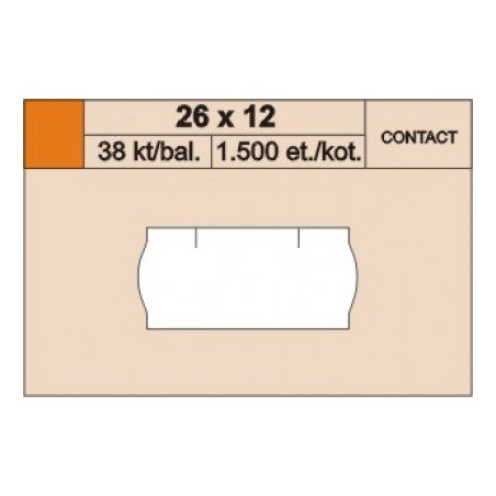 Cenové etikety 26 x 12 mm contact reflexní žlutá