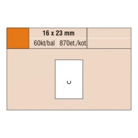 Cenové etikety 16 x 23 mm reflexní žlutá
