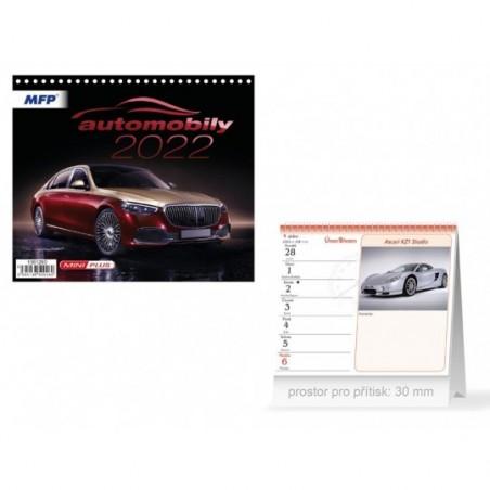 kalendář 2022 stolní mini Automobily 1061280