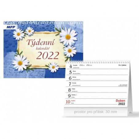 kalendář 2022 stolní Týdenní 1061301