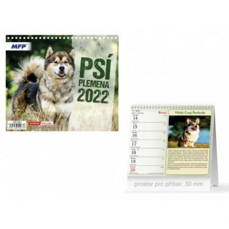 kalendář 2022 stolní mini Psí plemena 1061287