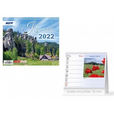 kalendář 2022 stolní mini Krajiny 1061284