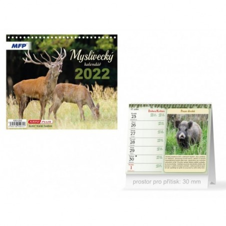 kalendář 2022 stolní mini Myslivecký 1061286