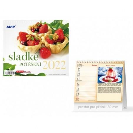kalendář 2022 stolní mini Sladké potěšení 1061289