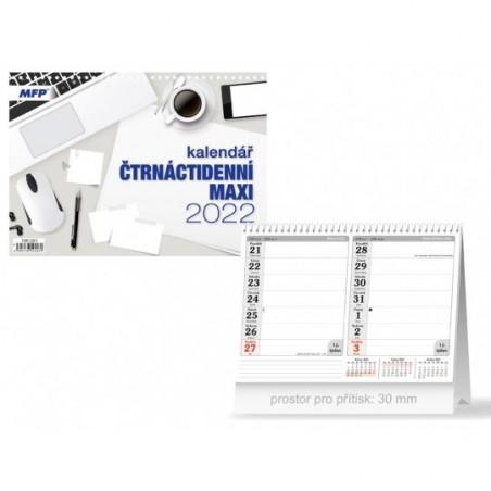 kalendář 2022 stolní Čtrnáctidenní MAXI 1061261