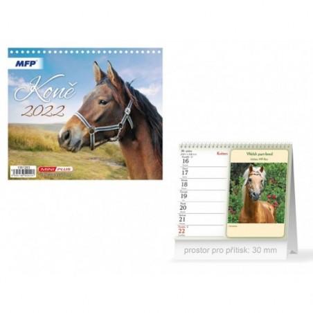 kalendář 2022 stolní mini Koně 1061283