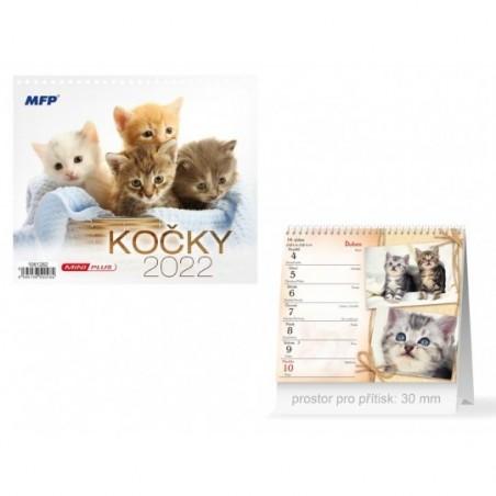 kalendář 2022 stolní mini Kočky 1061282