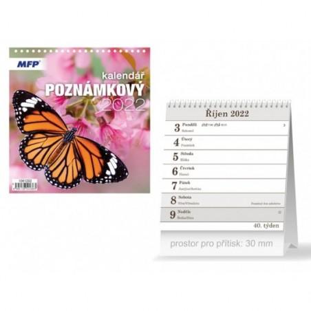 kalendář 2022 stolní Poznámkový 1061292