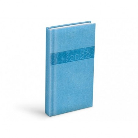 diář 2022 D802 PU blue 90x170 mm 7781085